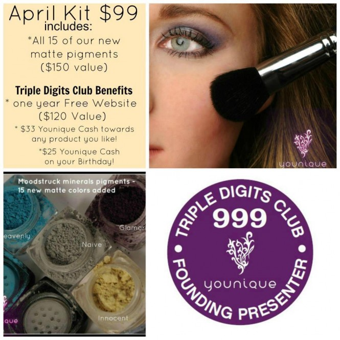 Younique April Presenters Kit now with Matte Mineral Eye Pigments