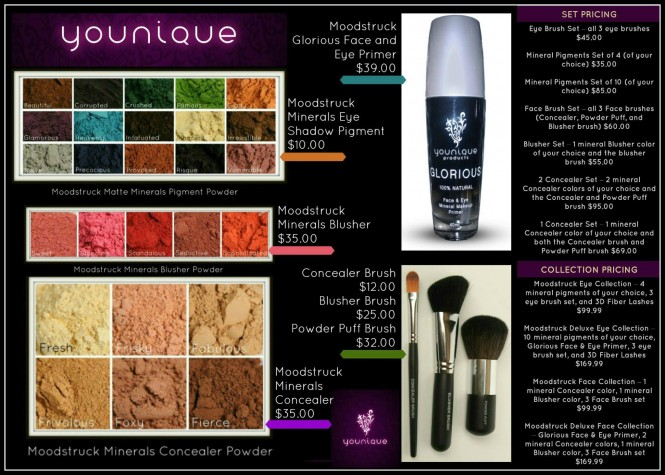 New Younique Make Up Product Pricing Launched
