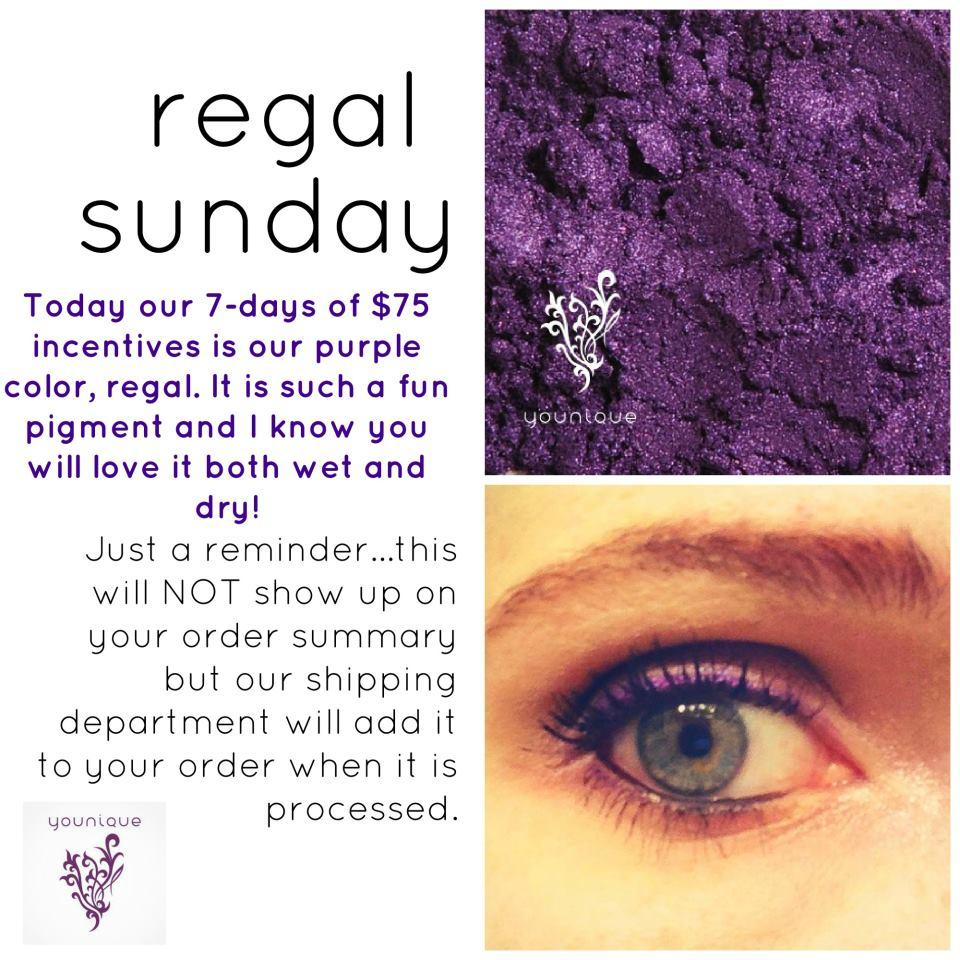 Younique Promotion Regal Sunday