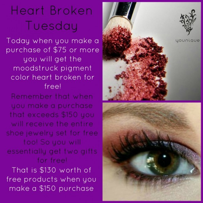 Younique Promo Of The Day Heart Broken Mineral Eye Pigment