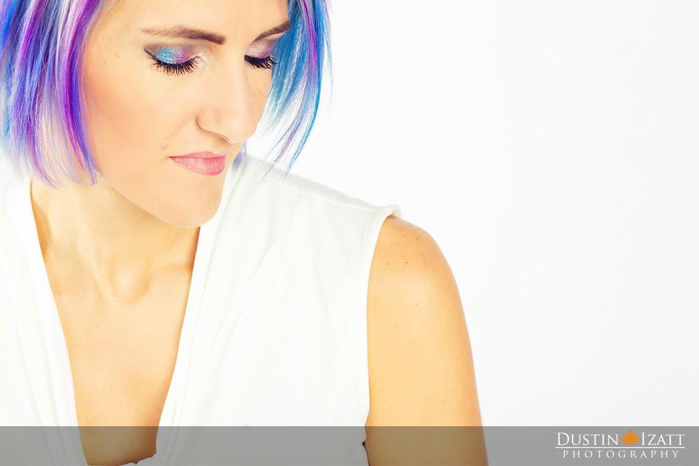 younique head shots purple status presenter pigments utah Tiffany Izatt white background
